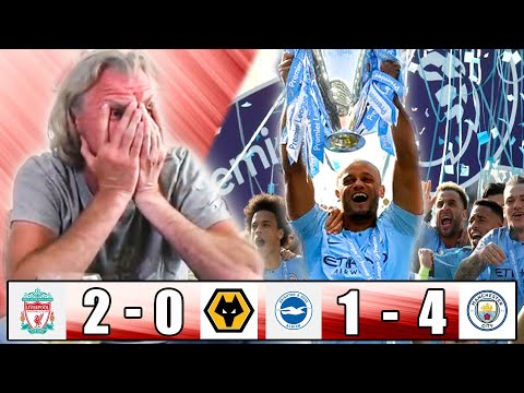 TITLE DECIDER FAN REACTION - LIVERPOOL VS WOLVES / BRIGHTON VS MAN CITY