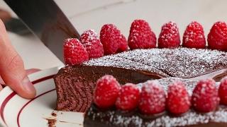 Chocolate Raspberry Zebra Cake by Tasty