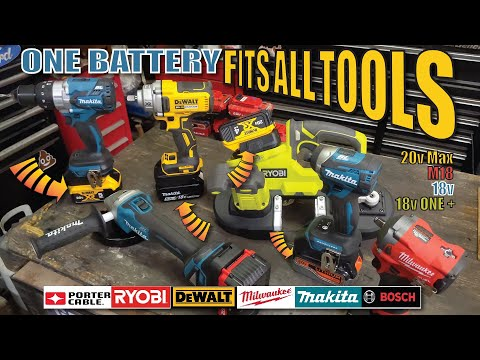 Use any brand battery in any power tool 18v-20v DEWALT MILWAUKEE MAKITA PORTER CABLE BOSCH adapters
