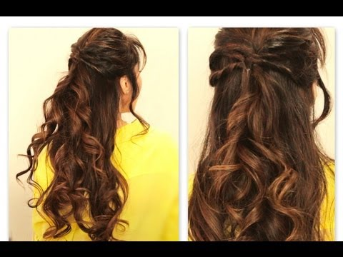 ★ CUTE TWISTED-FLIP HALF-UP HALF-DOWN FALL HAIRSTYLES FOR MEDIUM LONG HAIR TUTORIAL | EVERYDAY UPDO