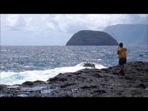 30+ Pound Ulua on 14 lb test mono – Kalaupapa, Molokai 2013