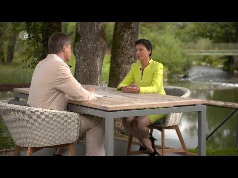 Интервью с Сарой Вагенкнехт на втором немецком ТВ канале ЦДФ [Голос Германии]