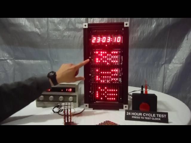 ダイオードだけで作られたデジタル時計