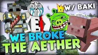Heaven TROLLING? We broke the Aether - Minecraft Aether Mod Parkour Map w/ Baki