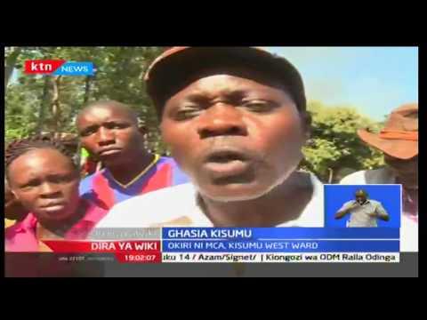 Dira Ya Wiki: Ghasia zazuka Mjini Kisumu baada ya mwakilishi mmoja wa wodi kutokomea katika mazingir
