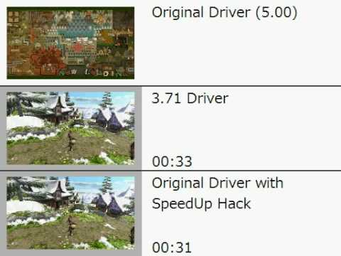 PSP ドライバー別メモリースティック読み込み速度比較