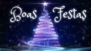 Tarjeta de Navidad para compartir. Boas Festas
