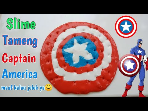DIY SLIME TAMENG CAPTAIN AMERICA Tutorial