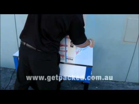 Strap Cartons together with a Semi Automatic Strapping Machine from www.getpacked.com.au