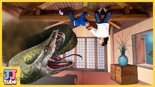 트릭아이 AR 박물관에 공룡이 살아나고 무서운 뱀이 공격해요 홍대 트릭아트 테마파크 미술관 체험학습 [제이제이 튜브-JJ tube]