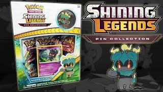 Pokemon Shining Legends Marshadow Pin Collection Box Opening! | Pokemon Cards by The Pokémon Evolutionaries