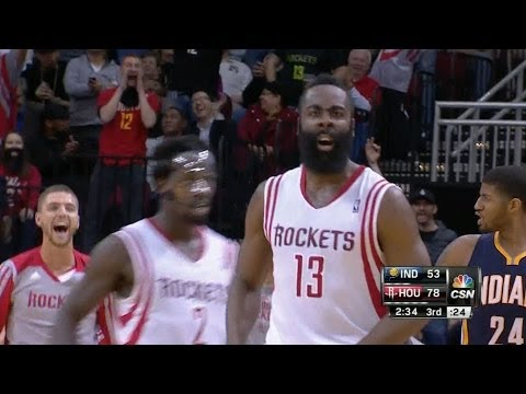 James Harden's back-breaking three and celebration vs Pacers