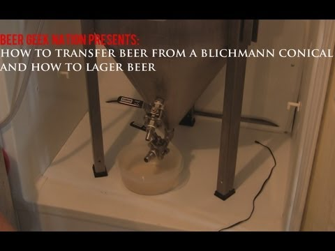 Transferring Beer from a Blichmann Conical and How to Lager Beer | BGN Homebrew Videos