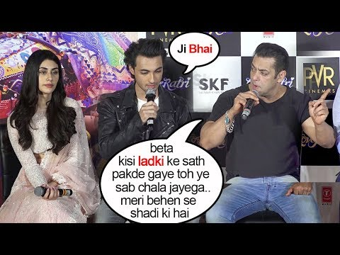 Salman Khan Openly WARNS Ayyush Sharma To Be Loyal To His Sister Arpita Khan In Public