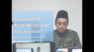 Video Benarkah Ibn Arabi Berakidah Ahli Sunnah? MP3, 3GP, MP4, WEBM, AVI, FLV Maret 2019