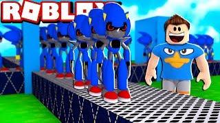 FÁBRICA DO SONIC DO MAL NO ROBLOX!! (Metal Sonic Tycoon)