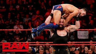 "Video Braun Strowman & Finn Bálor vs. Kevin Owens & ""Constable"" Baron Corbin: Raw, June 18, 2018 MP3, 3GP, MP4, WEBM, AVI, FLV Juni 2018"