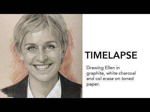 Drawing Ellen Degeneres! - Maas.Art