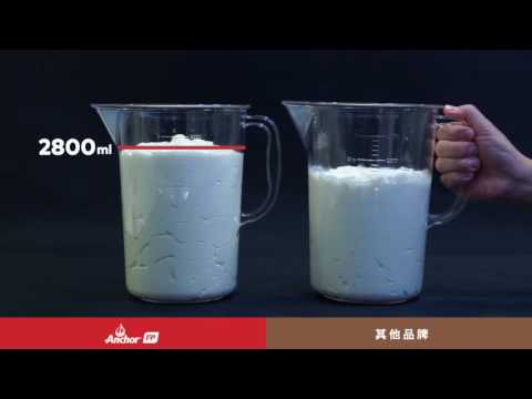 Anchor Extra Whip Whipping Cream Product Demonstration
