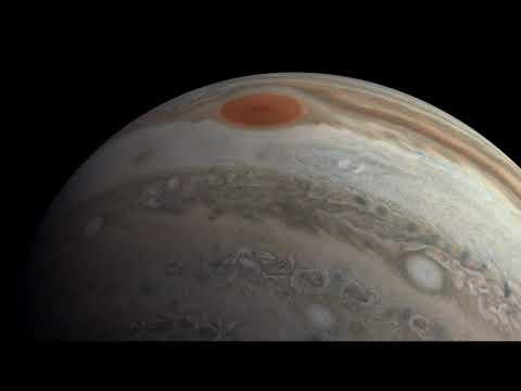 Пролетая над Юпитером: в NASA показали, как выглядит газовый гигант с орбиты