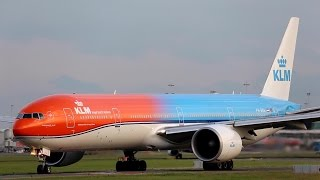 KLM ORANGE PRIDE BOEING B777 PH-BVA TAKEOFF FILMED from MULTIPLE ANGLES.Departure form Aalsmeerbaan runway at #Amsterdam #Schiphol #Airport on the 30th of July 2016Thanks for watching i hope you liked it, do not forget to rate with a click on the thumbs up button, share it you like of comment. https://www.planespotters.net/airframe/Boeing/777/35671/PH-BVA-KLM-Royal-Dutch-AirlinesPH-BVA KLM Royal Dutch Airlines Boeing 777-306(ER) - cn 35671 / 694Construction Number (MSN) 35671Line Number 694Aircraft Type Boeing 777-306(ER)First Flight 24. Jan 2008Age 8.8 YearsProduction Site  Everett (PAE)Airframe Status Active