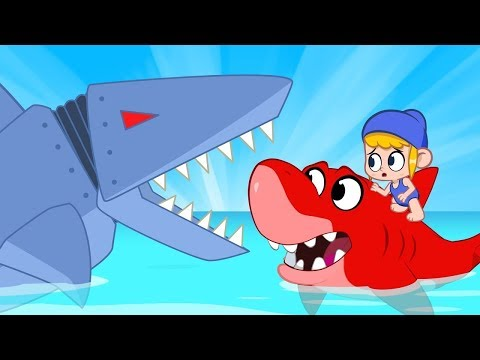 Mila vs Robot Sharks - My Magic Pet Morphle | Cartoons For Kids | Cartoons and Kids Songs | Morphle