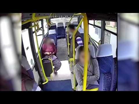 Minibüsteki hırsızlık böyle görüntülendi