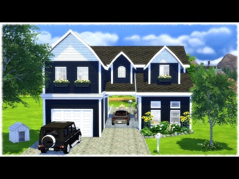 The Sims 4: Speed Build // GARAGE HOUSE +  CC Links