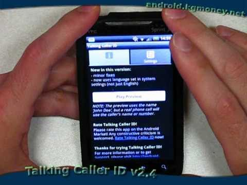 Video of Talking Caller ID