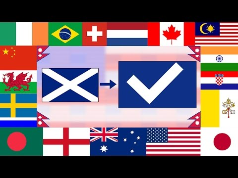 Comedian  Fixes  Flags From Around the World