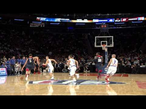 Puerto Rico - Take a look as Klay Thompson hits the long three at the buzzer to end the first half vs. Puerto Rico! About USA Basketball Based in Colorado Springs, Colo., USA Basketball is a nonprofit organizat...