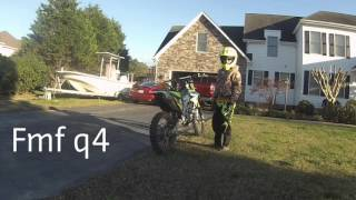 8. 2013 Kawasaki kx250f fmf q4 compared to stock