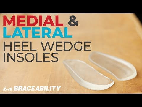 Medial & Lateral Heel Wedge Insoles: Overpronation & Supination Inserts to Correct Bow Leggedness