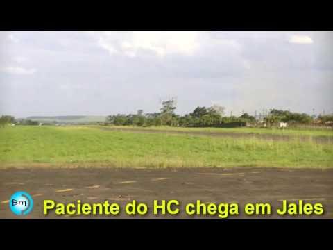 Jales/Mineiros (GO) - Paciente do HC de Jales, utiliza Aeroporto para se tratar em nossa cidade.