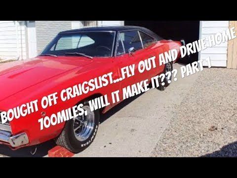 1968 Dodge charger Craigslist find, will it make the 700 mile drive home? Part 1