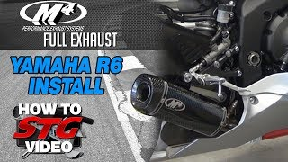 7. 2017 Yamaha R6 M4 Full Exhaust Install from Sportbiketrackgear.com
