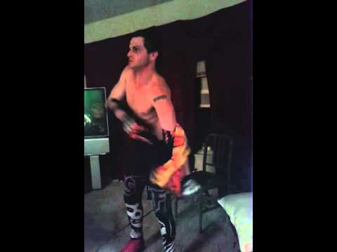 Wrestling intro CRIMSON GHOST!!! Apartment fun!