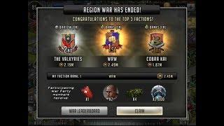 Walking Dead : Road to Survival - CROSS REGION WAR - FINAL RESULTS