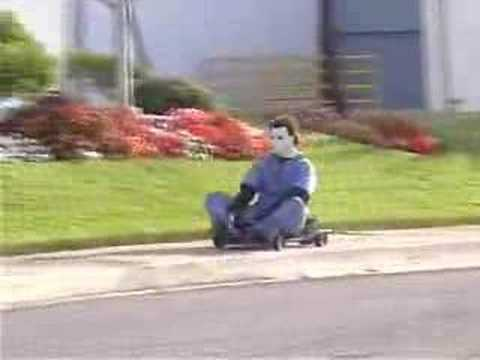 Michael Myers Takes gokart from Kid.