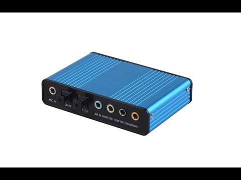 Usb To 5.1 External Sound Card PD550 CM6206LX Driver
