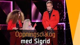 Sigrid läxar upp Henrik Schyffert i Melodifestivalen 2016