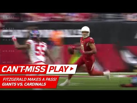 Video: Larry Fitzgerald Tosses Tricky Pass for a 1st Down vs. NY! | Can't-Miss Play | NFL Wk 16 Highlights