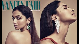 """Deepika Padukone Hot Vanity Fair Photoshoot 2017 - Actress Deepika Padukone has done a sizzling photoshoot for popular magazine Vanity Fair, where she looked simple yet stunning. The magazine shared the star's cover photo and said, """"Beloved in Bollywood and sought by Hollywood: @deepikapadukone covers the latest issue of V.F. On Jewellery."""""""