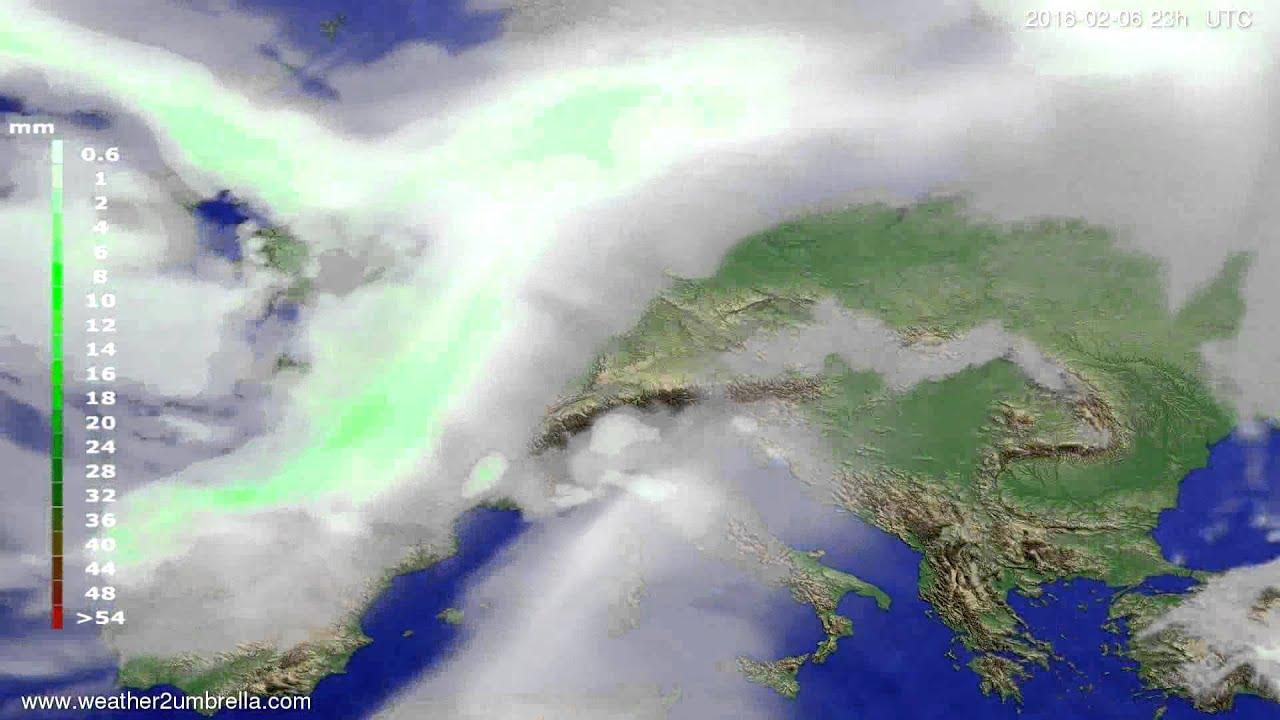 Precipitation forecast Europe 2016-02-03