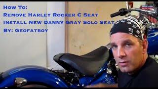 10. Harley Davidson Rocker C Seat Removal - Install Danny Gray Solo Seat