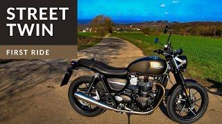10. 2019 Triumph Street Twin    First Ride   Review   EN/DE Subs