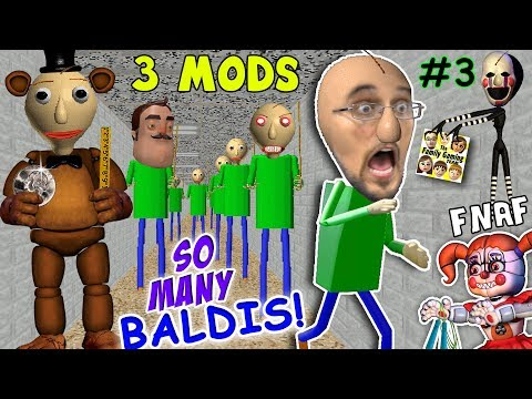 BALDI's BASICS of FNAF EDUCATION & CLONING MOD + I'M BALDI vs. Principal (FGTEEV Cheat Escape #3)