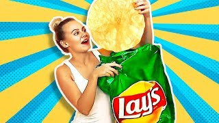 38 HILARIOUS PRANKS AND CRAFTS || GIANT LAY'S CHIPS