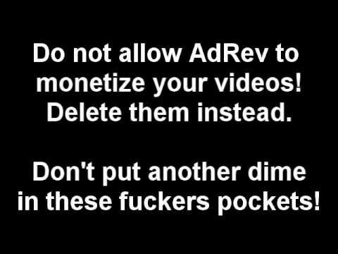 AdRev for a 3rd Party Targets YouTube Channels for False Copyright Claims