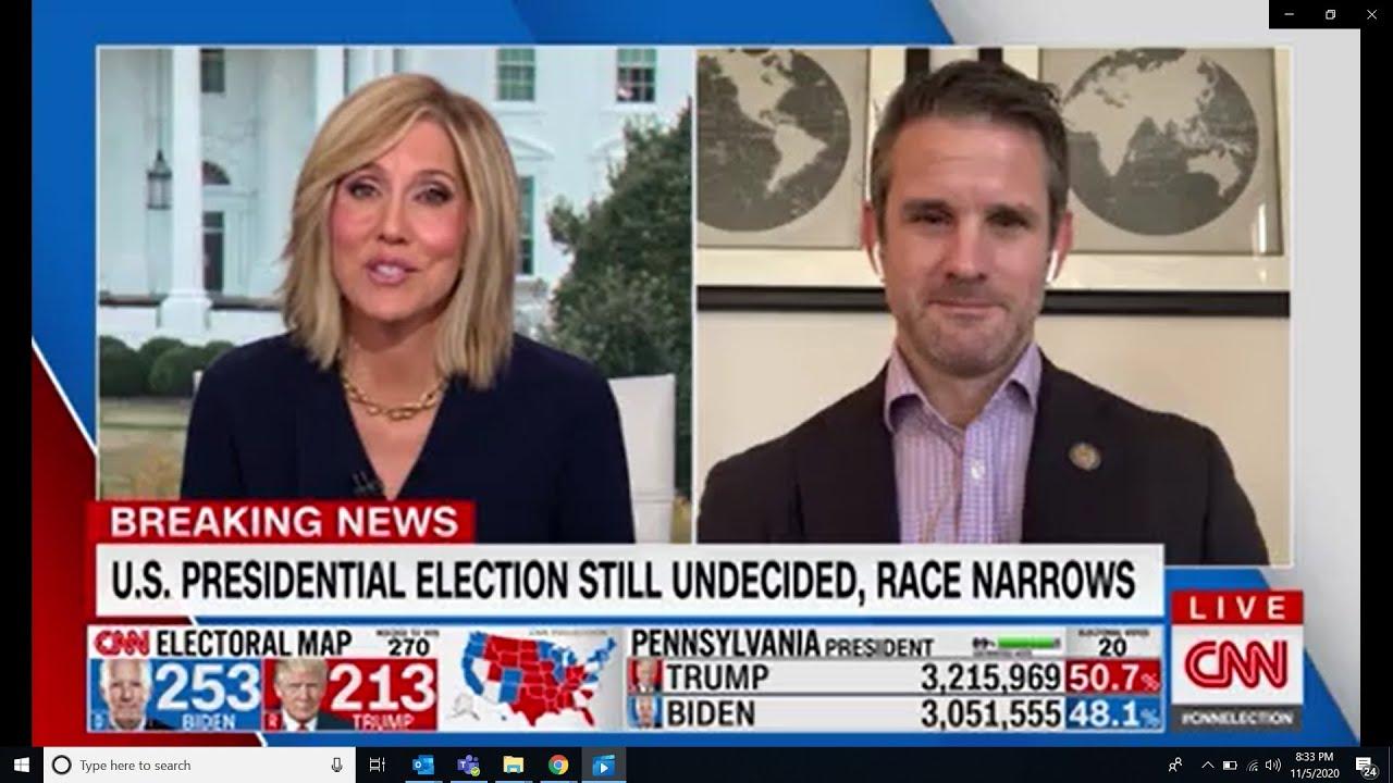 Congressman Adam Kinzinger joins CNN to discuss the 2020 Election and U.S. Politics